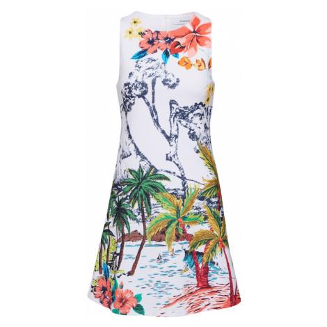 Desigual Letnia sukienka 'VEST_TROPICAL PACIFIC' biały / mieszane kolory