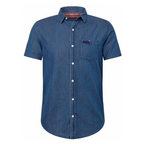 Superdry Koszula 'Miami Loom' niebieski denim