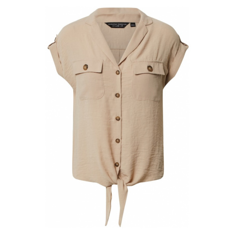 Dorothy Perkins Bluzka 'TIE FRONT SHIRT' beżowy