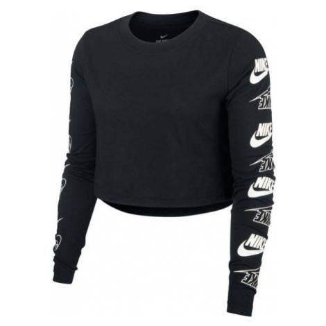 Nike NSW TEE LS FUTURA FLIP CROP biały S - Koszulka damska