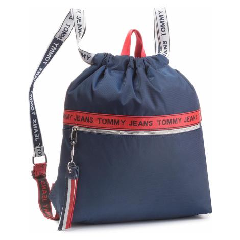 Plecak TOMMY JEANS - Tj Logo Tape Drawstr AU0AU00245 901 Tommy Hilfiger