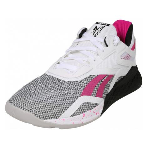 REEBOK Buty sportowe 'Nano X' biały / czarny / różowy