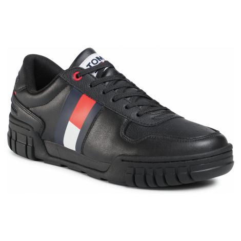 Sneakersy TOMMY JEANS - Retro Tommy Jeans Sneaker EM0EM00575 Black BDS Tommy Hilfiger