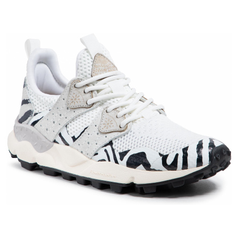 Sneakersy FLOWER MOUNTAIN - Corax 0012015672.05.1N20 White/Black