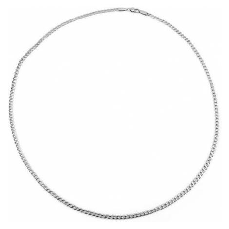 Silvego Męska srebrny łańcuch Pancr TTT80GDN (długość 55 cm) srebro 925/1000