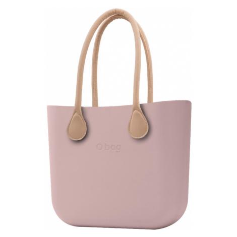 O bag torebka Smoke Pink z długimi uchwytami ze skajki natural