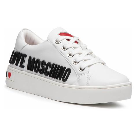 Sneakersy LOVE MOSCHINO - JA15063G1BIA0100 Bianco