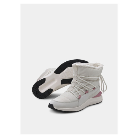 Kremowe damskie zimowe buty Puma Adela