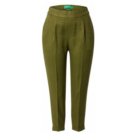 UNITED COLORS OF BENETTON Spodnie w kant khaki