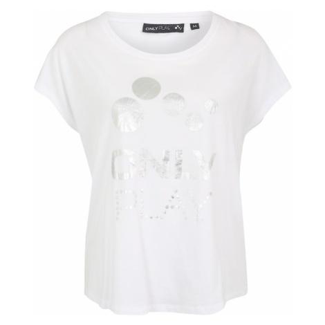 ONLY PLAY Koszulka funkcyjna 'FRAY' srebrny / biały
