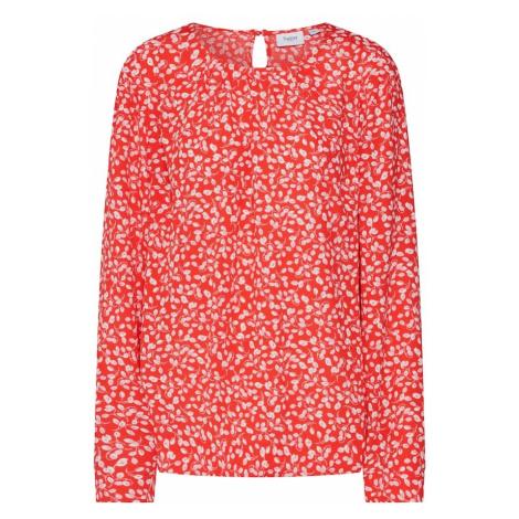 SAINT TROPEZ Bluzka 'Leaf' czerwony / biały