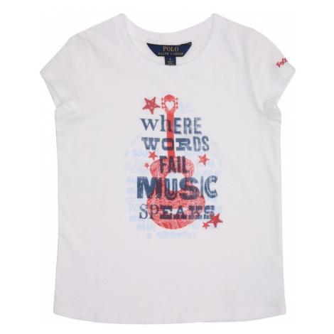 POLO RALPH LAUREN Koszulka 'SS GRAPHIC 1' czerwony / biały