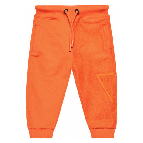 Guess Spodnie dresowe N1RQ09 KA6R0 Pomarańczowy Regular Fit