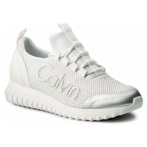 Sneakersy CALVIN KLEIN JEANS - Reika R0666 White/Silver