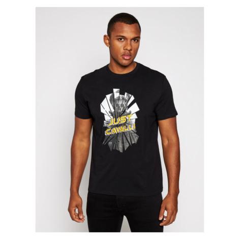 Just Cavalli T-Shirt S01GC0640 Czarny Regular Fit