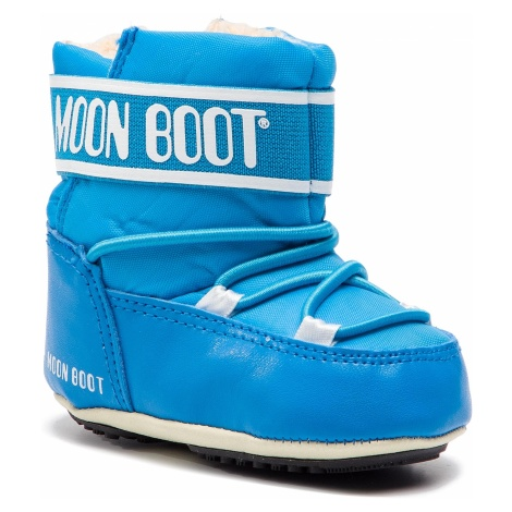 Śniegowce MOON BOOT - Crib 2 34010200001 Light Blue