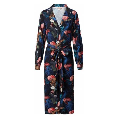 Femi Stories Sukienka koszulowa 'Fisi' czarny / niebieski / jasnoczerwony / beżowy