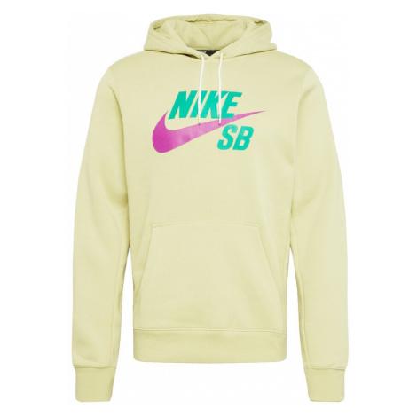 Nike SB Bluzka sportowa orchidea / zielony / jasnozielony