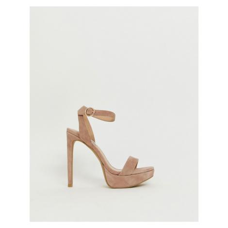 Steve Madden Stephie blush suede heeled sandals