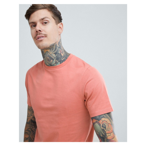 Pull&Bear Organic Cotton Basic T-Shirt In Pink Pull & Bear