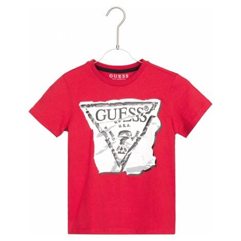 Guess Koszulka dziecięce Czerwony
