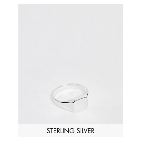 ASOS DESIGN sterling silver pinky ring