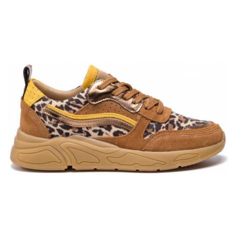 Eva Minge Sneakersy EM-18-06-000074 Brązowy