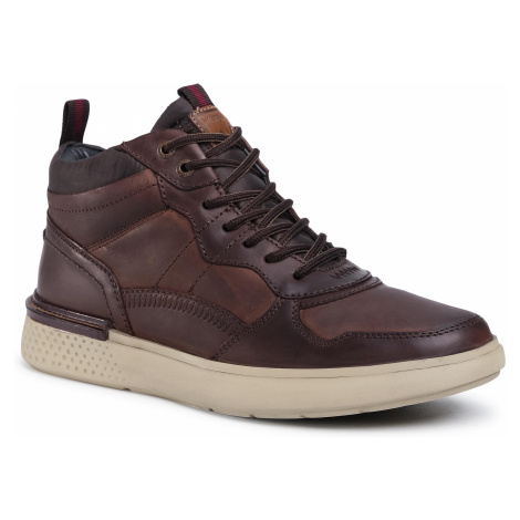 Sneakersy WRANGLER - Discovery Mid WM02032A Dk. Brown 030