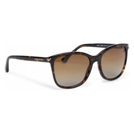 Emporio Armani Okulary przeciwsłoneczne 0EA4060 5026T5 Brązowy