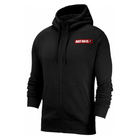 Nike NSW JDI HOODIE FZ FLC BSTR czarny M - Bluza męska