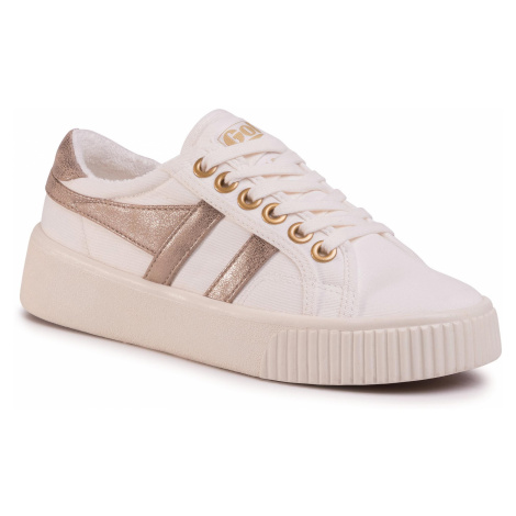Tenisówki GOLA - Baseline Mark Cox CLB012 Off White/Gold