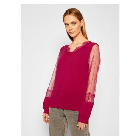 TwinSet Sweter 202TP3381 Różowy Regular Fit