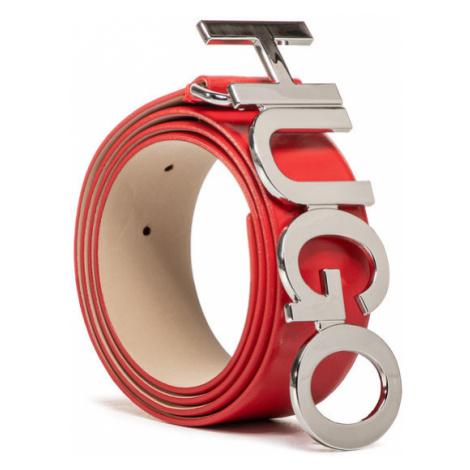 Hugo Pasek Damski Zula Belt 4 Cm 50391327 Czerwony Hugo Boss