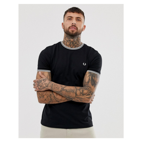 Fred Perry twin tipped t-shirt in black
