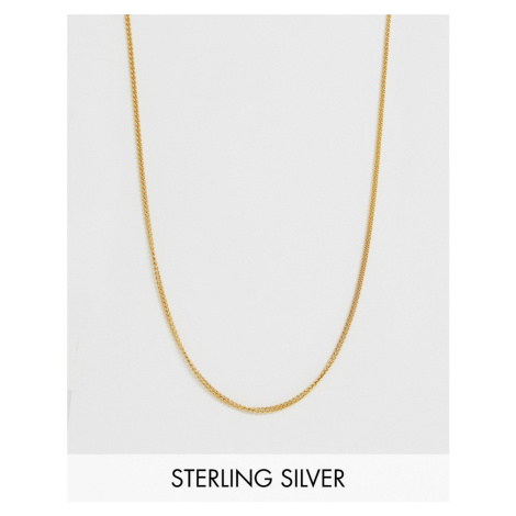 ASOS DESIGN short sterling silver necklace in 14k gold plate