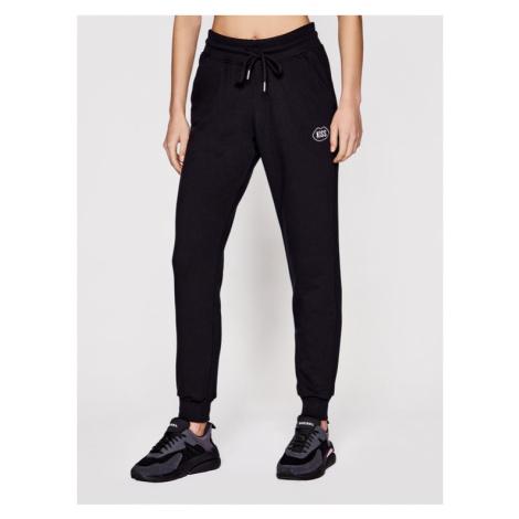 PLNY LALA Spodnie dresowe Kiss PL-SP-SE-00012 Czarny Regular Fit