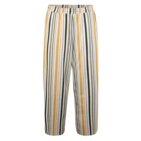 Junarose Spodnie 'MAGALI' żółty / beżowy / czarny