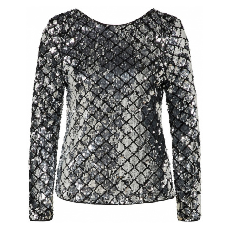ICHI Koszulka czarny / srebrny