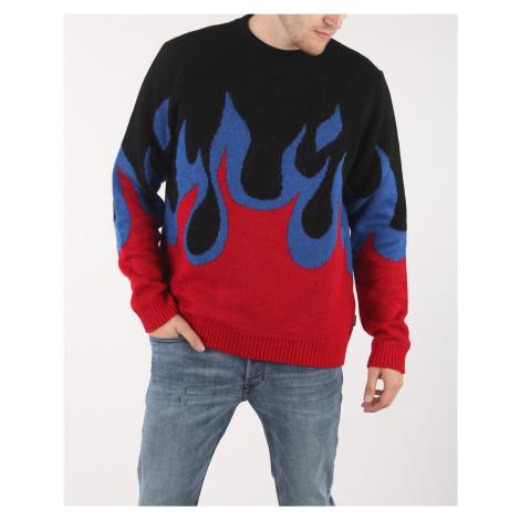 Diesel K-Fire Sweter Czarny Czerwony