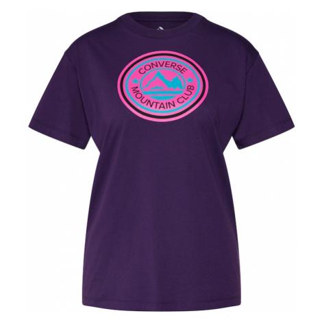 CONVERSE Koszulka fioletowy / różowy