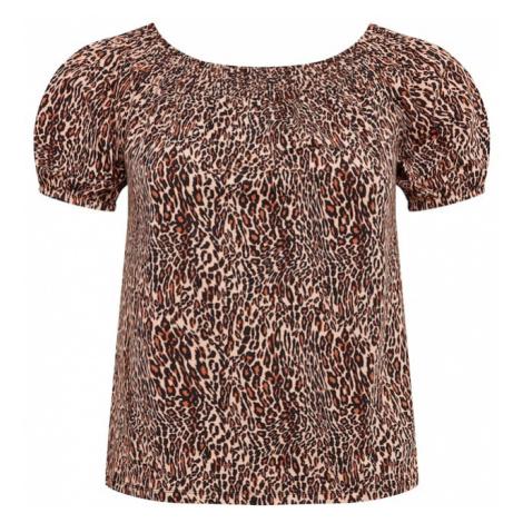 Dorothy Perkins Curve Koszulka czarny / beżowy / rdzawobrązowy
