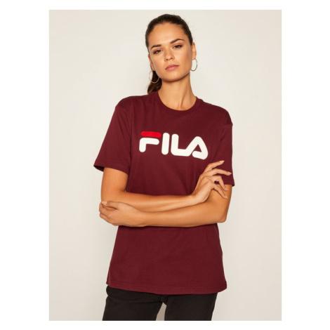 Fila T-Shirt Unisex 681093 Bordowy Regular Fit