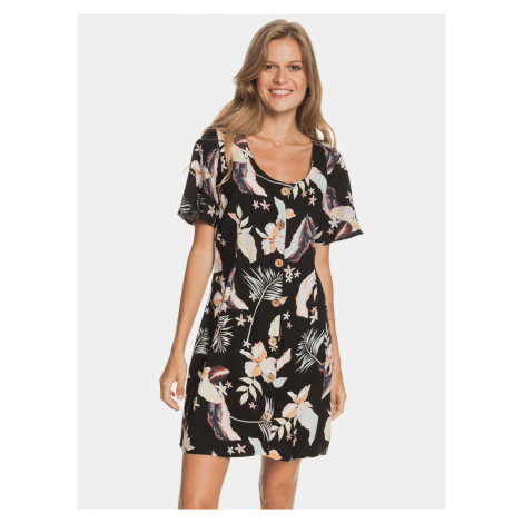 Roxy czarny kwiecista sukienka