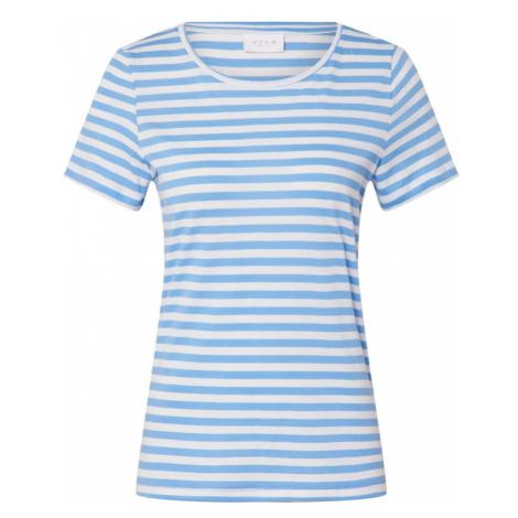 VILA Koszulka 'VISUS' biały / jasnoniebieski
