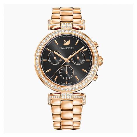 Zegarek Era Journey, bransoleta z metalu, szary, powłoka PVD w odcieniu różowego złota Swarovski