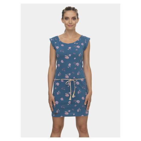 Niebieska sukienka w kwiatki Ragwear Tamy Flowers