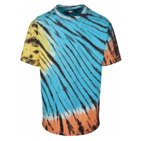 Urban Classics Koszulka 'Black Tie Dye Oversized Tee' niebieski / żółty / czarny