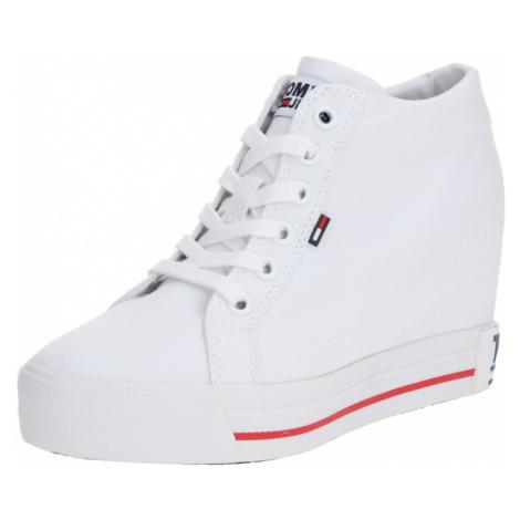 Tommy Jeans Trampki wysokie biały Tommy Hilfiger