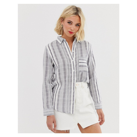 RD⣢ long sleeve plaid shirt with pocket