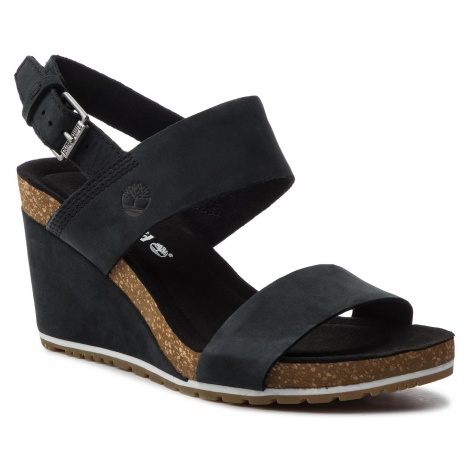 Sandały TIMBERLAND - Capri Sunset Wedge TB0A1MSY0151 Black